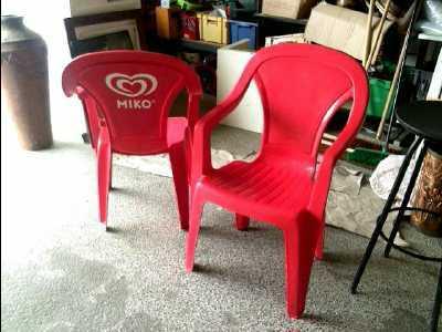 chaise de jardin rouge d 39 occasion. Black Bedroom Furniture Sets. Home Design Ideas