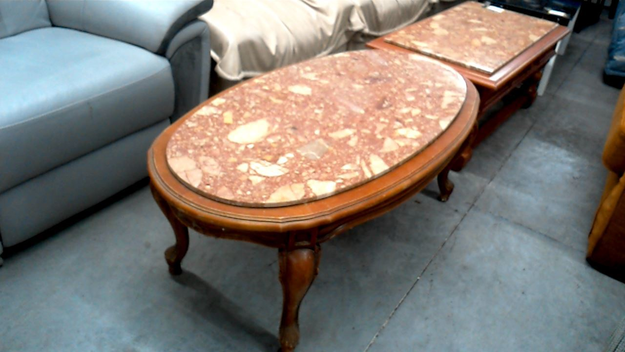table basse ovale marbre a restaurer d 39 occasion. Black Bedroom Furniture Sets. Home Design Ideas
