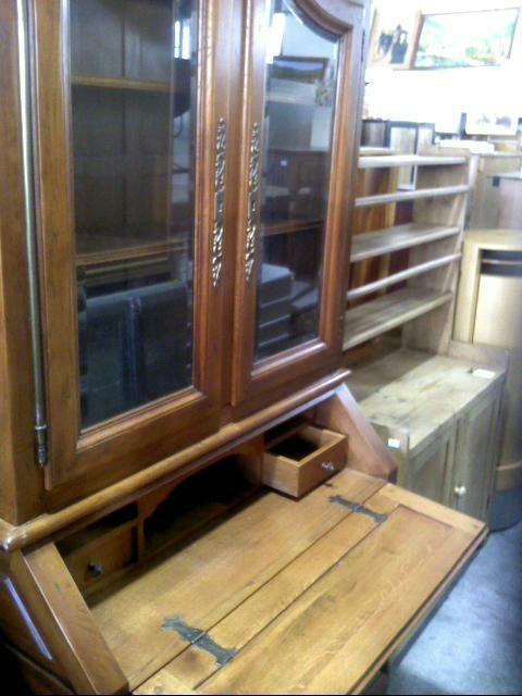bibliotheque vitree 4p 1 bat chene d 39 occasion. Black Bedroom Furniture Sets. Home Design Ideas